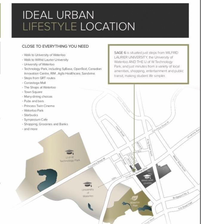 Prelist - Sage 6 University of Waterloo Condo 2 BD + 2 Bath
